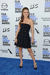 Billie Lourd at the 35th Annual Film Independent Spirit Awards held at the Santa Monica Beach in Santa Monica, USA on February 8, 2020.