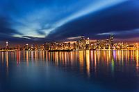 Seattle Skyline, Early Morning Illumination