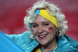 March 22, 2019 - Lisbon, Portugal - A Ukraine's supporter during the UEFA EURO 2020 group B qualifying football match Portugal vs Ukraine, at the Luz Stadium in Lisbon, Portugal, on March 22, 2019. (Credit Image: © Pedro Fiuza/NurPhoto via ZUMA Press)