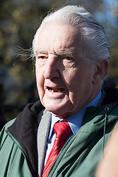 "St Thomas's Hospital, London, April 26th 2016. Dennis Skinner MP - ejected from Parliament for referring to the Prime Minister as ""Dodgy Dave"" addresses the media as junior doctors picket St Thomas' hospital as they strike again against new contracts imposed on them by the Department of Health. ©Paul Davey<br /> FOR LICENCING CONTACT: Paul Davey +44 (0) 7966 016 296 paul@pauldaveycreative.co.uk"