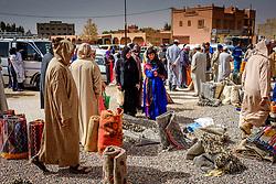 A general view of the carpet market in in Tazenakht, southern Morocco, Africa<br /> <br /> (c) Andrew Wilson   Edinburgh Elite media