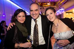 Andreja Okorn, Ziga Dobnikar and Sara Oblak at Slovenian Sports personality of the year 2012 annual awards presented on the base of Slovenian sports reporters, on December 20, 2011 in Cankarjev dom, Ljubljana, Slovenia. (Photo By Vid Ponikvar / Sportida.com)