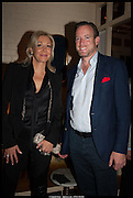 Nadja Swarovski; Rupert Adams, Lisson Gallery reception at Chiltern Firehouse after the openings of work by Marina Abramovic: White Space and Nathalie Djurberg & Hans Berg: The Gates of the Festival, 15 September 2014