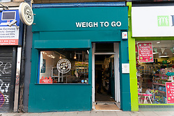 Weigh to Go shop on Leith Walk  is a no waste no packaging grocers, in Leith, Edinburgh, Scotland, UK