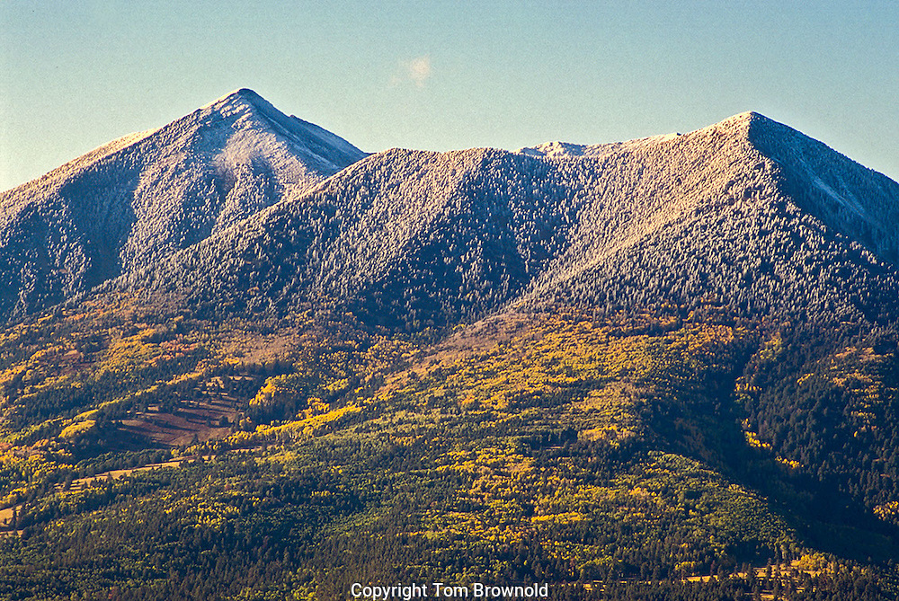 San Francisco Peaks and a dusting of snow