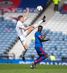 Falkirk's Peter Grant and Inverness Caledonian Thistle's Edward Ofere. Falkirk 1 v 2 Inverness CT, Scottish Cup final at Hampden.