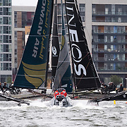INEOS Rebels UK - 2018<br /> INEOS Rebels UK logo<br /> Some of the UK's hottest sailing talent is set to race under the British flag in 2018 as an impressive new team of ambitious sailors steps up to the plate. Three-time Extreme Sailing Series™ champion Leigh McMillan returns to the circuit as helm for INEOS Rebels UK, hoping to draw on his extensive experience of the Series to propel his team of young pros to victory.<br /> <br /> Will Alloway takes on the role of skipper and trimmer for 2018, competing in his third year on the Extreme Sailing Series scene. Fellow Brit Adam Kay also returns to the fray, gunning for a podium finish following two seasons competing in the Series in 2016 and 2017. The pair are accompanied by Oli Greber on the bow and Mark Spearman on the mainsail – both boasting prior Extreme Sailing Series experience.<br /> <br /> Young guns learning from their experienced helm, the Brits are strong contenders and the podium is well within reach. These boys are a force to be reckoned with.