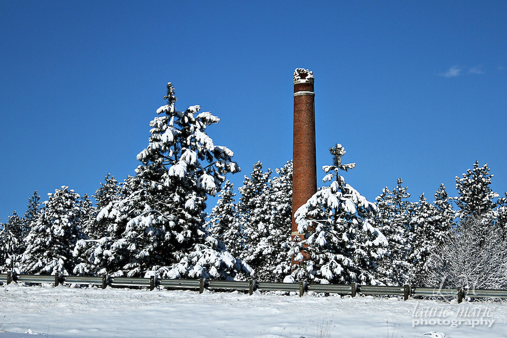 Hoyt's Greenhouse Smokestack in Garden Springs outside Spokane, WA.