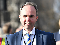 © Licensed to London News Pictures. 26/03/2019. London, UK. GAVIN BARWELL IS seen in Westminster, London. MPs have passed an amendment which gives Parliament a series of indicative votes on alternatives to Prime Minister Theresa May's Brexit deal. Photo credit: Ben Cawthra/LNP