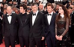 Cast and crew from the film (left-right) Denis Podalydes, Vincent Lacoste, Pierre Deladonchamps, director Christophe Honoreand and Adele Wismes attending the Sorry Angel Premiere as part of the 71st Cannes Film Festival