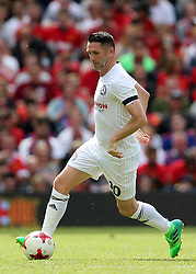 Carrick All Stars' Robbie Keane in action during Michael Carrick's Testimonial match at Old Trafford, Manchester.