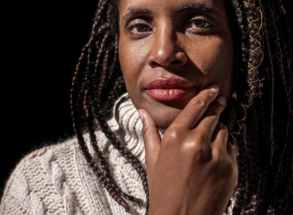 Alleen voor de website van dagblad Trouw te gebruiken!!<br /> <br /> Netherlands. Amsterdam, 29-11-2019. Photo: Patrick Post. Portrait of Djamila Ribeiro, a Brazilian feminist, journalist, and philosopher.