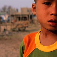 Young boy at market, Muang Singh, Laos