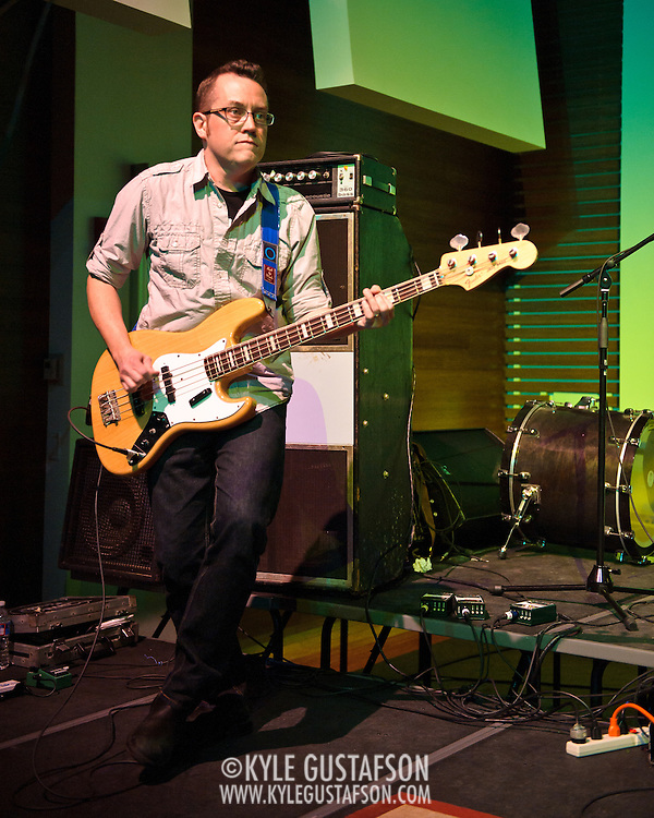 ARLINGTON, VA - April 7th, 2012 -  Brian Nelson of seminal Washington, D.C. indie-pop band Black Tambourine performs at Artisphere in Arlington, VA.  The band reunited to play their first gigs since 1991 for the 20th anniversary party for Chickfactor Magazine.  (Photo by Kyle Gustafson/For The Washington Post)