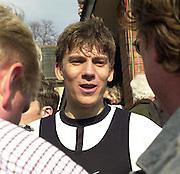 London, ENGLAND, 30.03.2002, University [Varsity] Boat Race, Oxford vs Cambridge over the Championship course - Putney to Mortlake.  © Peter Spurrier/Intersport Images, email images@intersport-images.com. Tel +44 [0] 7973 819 551.
