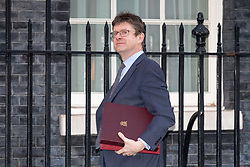 © Licensed to London News Pictures. 30/01/2018. London, UK. Secretary of State for Business, Energy and Industrial Strategy Greg Clarke arriving in Downing Street to attend a Cabinet meeting this morning. Photo credit : Tom Nicholson/LNP