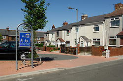 Home zone; regeneration of landscape and built environment of Thornley; ex mining village in County Durham; NE England UK