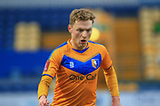 George Maris of Mansfield Town (10) during the The FA Cup match between Mansfield Town and Dagenham and Redbridge at the One Call Stadium, Mansfield, England on 29 November 2020.