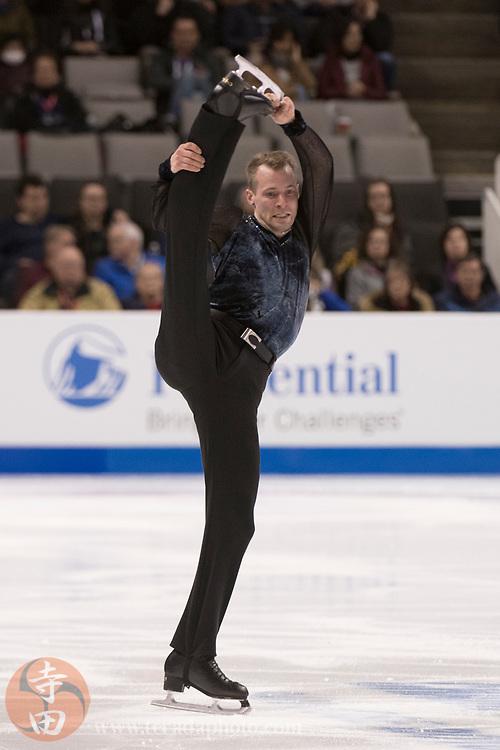 January 4, 2018; San Jose, CA, USA; Ben Jalovick in the mens short program during the 2018 U.S. Figure Skating Championships at SAP Center.