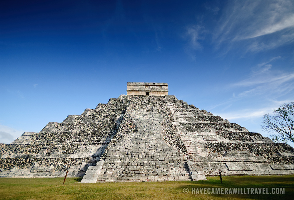 El Castillo (also known as Temple of Kuklcan) at the ancient Mayan ruins at Chichen Itza, Yucatan, Mexico 081216091954_1896.NEF