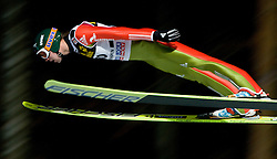 Pavel Karelin (RUS) competes during Qualification round of the FIS Ski Jumping World Cup event of the 58th Four Hills ski jumping tournament, on January 5, 2010 in Bischofshofen, Austria. (Photo by Vid Ponikvar / Sportida)
