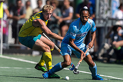 (L-R) Aran Zalewski of Australia, Sardar Singh of India during the Champions Trophy finale between the Australia and India on the fields of BH&BC Breda on Juli 1, 2018 in Breda, the Netherlands.