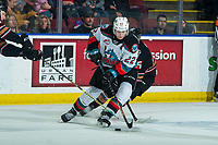 KELOWNA, BC - FEBRUARY 17: Dillon Hamaliuk #22 of the Kelowna Rockets skates with the puck against the Calgary Hitmen at Prospera Place on February 17, 2020 in Kelowna, Canada. (Photo by Marissa Baecker/Shoot the Breeze)