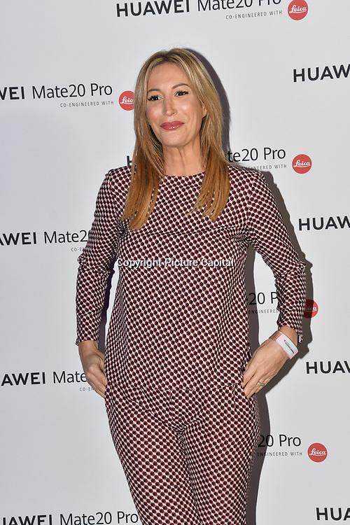 Laura Pradelska attend Huawei - VIP celebration at One Marylebone London, UK. 16 October 2018.