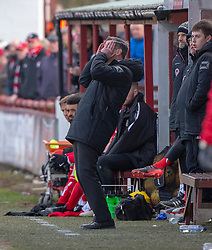 Brechin City ass manager Barry Smith.  Brechin City 1 v 1 Arbroath, Scottish Football League Division One played 13/4/2019 at Brechin City's home ground Glebe Park. Arbroath win promotion.