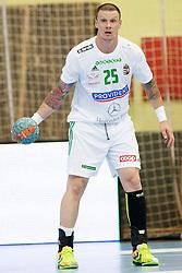 Szabolcs Zubai #25 of Hungary during handball match between National teams of Slovenia and Hungary in play off of 2015 Men's World Championship Qualifications on June 15, 2014 in Rdeca dvorana, Velenje, Slovenia. Photo by Urban Urbanc / Sportida