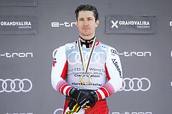 March 16, 2019 - El Tarter, Andorra - Marcel Hirscher of Austria Ski Team, win the Crystal globe of  Men's Giant Slalom Audi FIS Ski World Cup, on March 16, 2019 in El Tarter, Andorra. (Credit Image: © Joan Cros/NurPhoto via ZUMA Press)