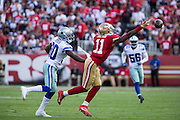 San Francisco 49ers wide receiver Quinton Patton (11) misses a pass during a game against the Dallas Cowboys at Levis Stadium in Santa Clara, Calif., on October 2, 2016. (Stan Olszewski/Special to S.F. Examiner)