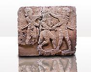 Picture & image of a Neo-Hittite orthostat describing the legend of Gilgamesh from Karkamis,, Turkey. Museum of Anatolian Civilisations, Ankara.
