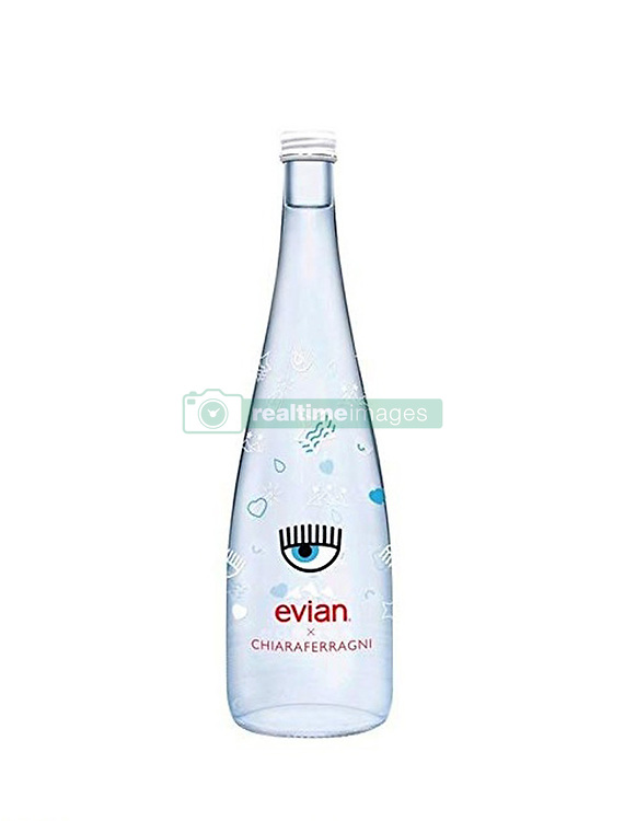 October 9, 2018.Limited-edition of Evian mineral bottle  (75 Cl) with the signature of Chiara Ferragni  for sale at 8 Euros (Credit Image: © Io/Ropi via ZUMA Press)
