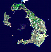 ASTER image of Santorini, acquired on November 21, 2000