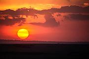 Sunset on the Maasai Mara, Maasai Mara, Kenya