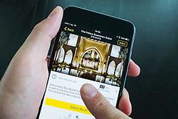 Palace Hotel luxury hotel on Expedia app on iPhone 6 Plus smart phone