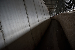 1 March 2020, Bethlehem: An old pathway runs through Checkpoint 300 between Bethlehem and Jerusalem.