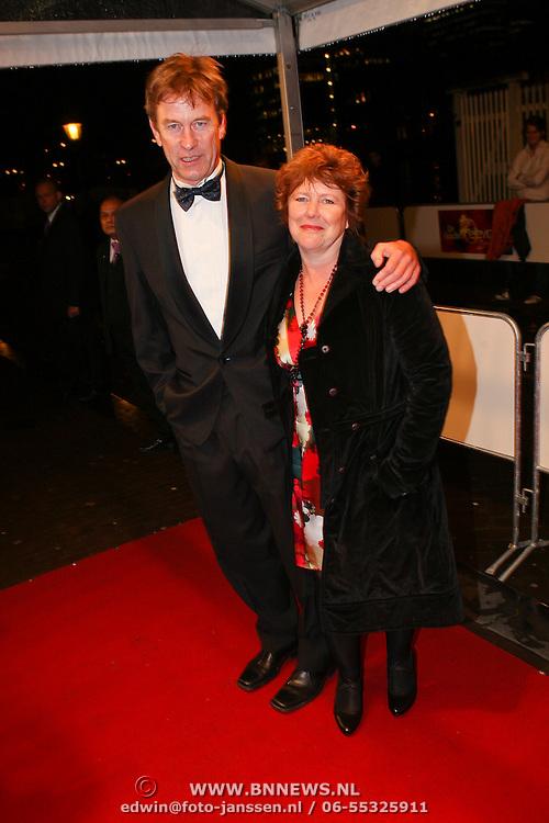 NLD/Amsterdam/20081024 - Uitreiking Televizier gala 2008, Pieter Jan Hagens en partner Renske