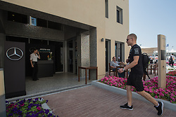 November 24, 2017 - Abu Dhabi, United Arab Emirates - Valtteri Bottas of Finland and Mercedes Team arrives to the padock before the practice session at Formula One Etihad Airways Abu Dhabi Grand Prix on Nov 24, 2017 in Yas Marina Circuit, Abu Dhabi, UAE. (Credit Image: © Robert Szaniszlo/NurPhoto via ZUMA Press)