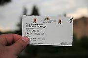 "Rome, Italy ticket to an Outdoor concert ""The Roman Trilogy"" at The Baths of Caracalla (Terme di Caracalla)"