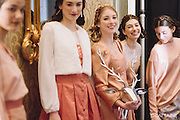 PROVIDENCE, RI - FEB 13: Models backstage during the Jess Abernethy show as part of StyleWeek NorthEast on February 13, 2015 in Providence, Rhode Island. (Photo by Cat Laine)