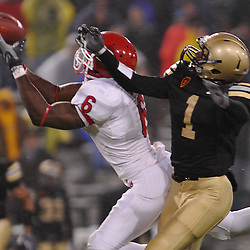 Oct 23, 2009; West Point, N.Y., USA; Rutgers wide receiver Mohamed Sanu (6) reaches for a pass during Rutgers' 27 - 10 victory over Army at Michie Stadium.