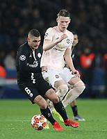 Football - 2018 / 2019 UEFA Champions League - Round of Sixteen, Second Leg: Paris Saint-Germain (2) vs. Manchester United (0)<br /> <br /> Scott McTominay of Manchester United at Parc des Princes, Paris.<br /> <br /> COLORSPORT/IAN MACNICOL
