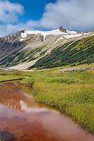 Salal Peak 2530 m (8301 ft) and headwaters of Salal Creek, Athelney Pass Coast Mountains British Columbia Canada