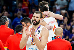 Marc Gasol of Spain celebrates at medal ceremony after placed third during basketball match between National Teams  Spain and Russia at Day 18 in 3rd place match of the FIBA EuroBasket 2017 at Sinan Erdem Dome in Istanbul, Turkey on September 17, 2017. Photo by Vid Ponikvar / Sportida