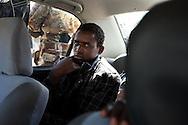 An alleged mercenary fighting for Qadaffi captured by rebels in  Adjabiya on March 3, 2011.