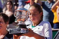 Jelena Ostapenko. Simona Halep Vs Jelena Ostapenko.  Jelena Ostapenko won women final during French Tennis Open at Roland-Garros arena on June 10, 2017 in Paris, France. Photo by Nasser Berzane/ABACAPRESS.COM  | 596106_031 Paris France
