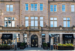 Exterior view of Malmaison Hotel on The Shore in Leith, Scotland, United Kingdom