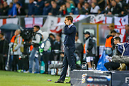 England Head Coach Gareth Southgate during the UEFA Nations League semi-final match between Netherlands and England at Estadio D. Afonso Henriques, Guimaraes, Portugal on 6 June 2019.